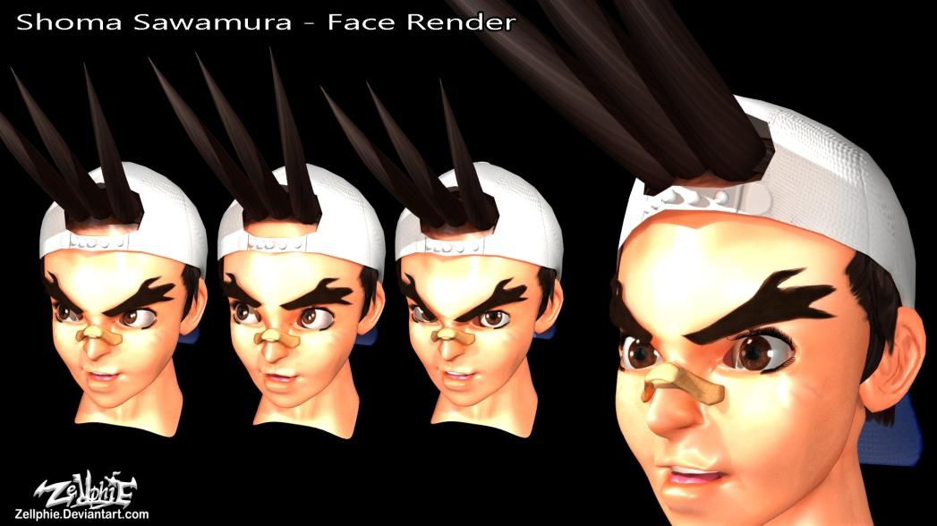 shoma sawamura face render