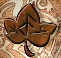 6 logo cuir sur fond